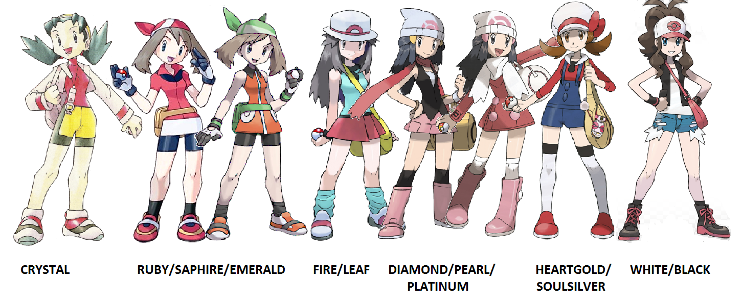 Pokemon And Y Anime Characters Names : Female trainers of pokemon v by teamr on deviantart