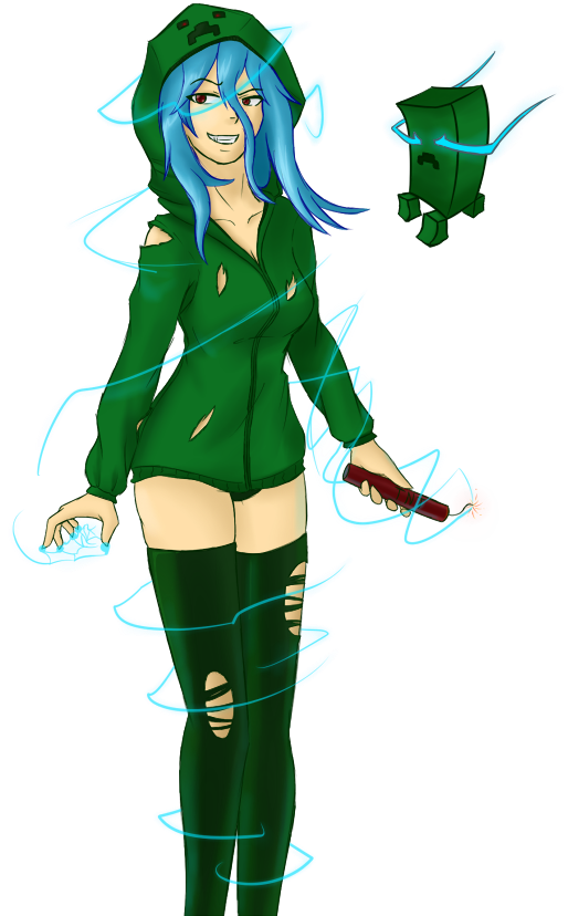 Super charged creeper girl by warlock0103 on deviantart - Creeper anime girl ...