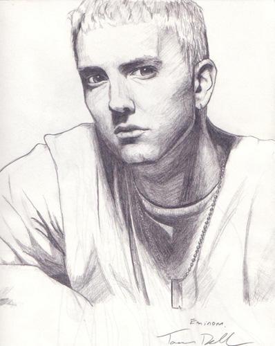 Eminem - pencil by RavensHaelo