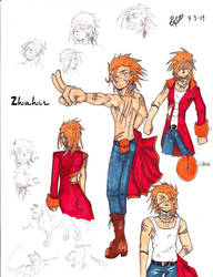 Zhahir and doodles by AidenRocker18