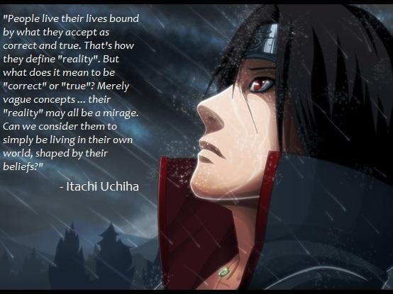 Itachi Love Quotes favorite quote of itachi