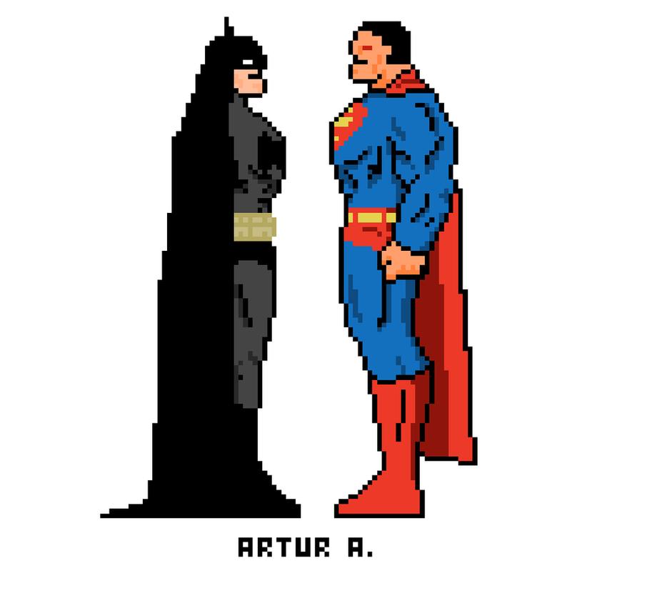 batman vs superman pixel -#main