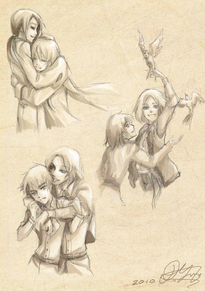 Hetalia sketches by petal-elf