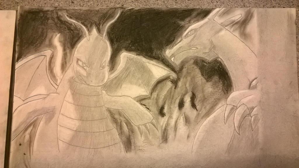 Dragonite vs Charizard by katzuka88 on DeviantArt