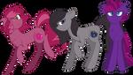 Winterverse: Berry Triplets by GallantServer