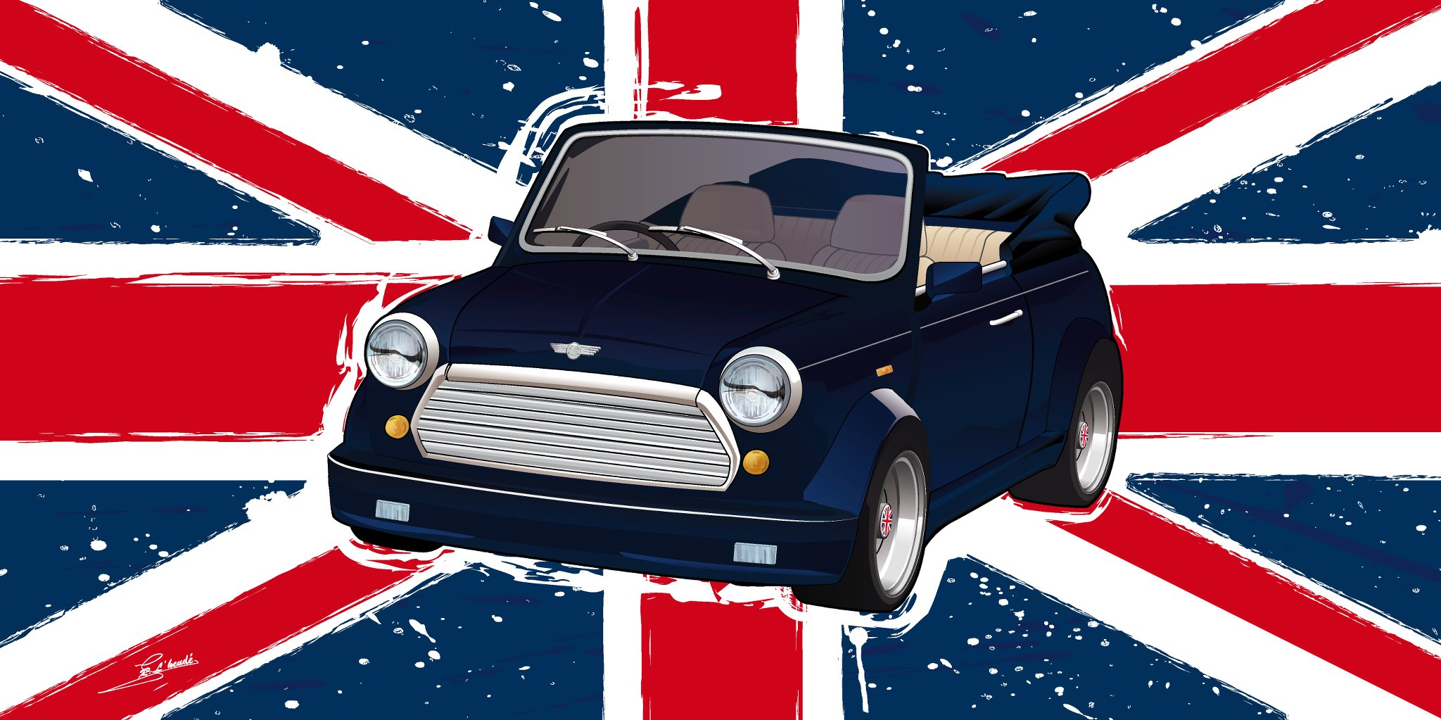 austin mini union jack by mcledice on deviantart. Black Bedroom Furniture Sets. Home Design Ideas