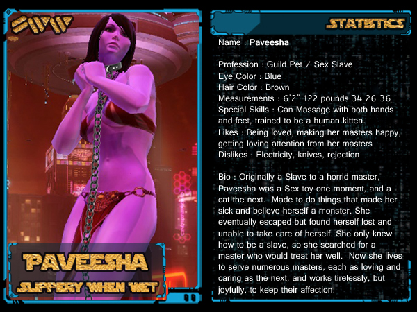 Paveesha - SWTOR Trading Card by Dosrev