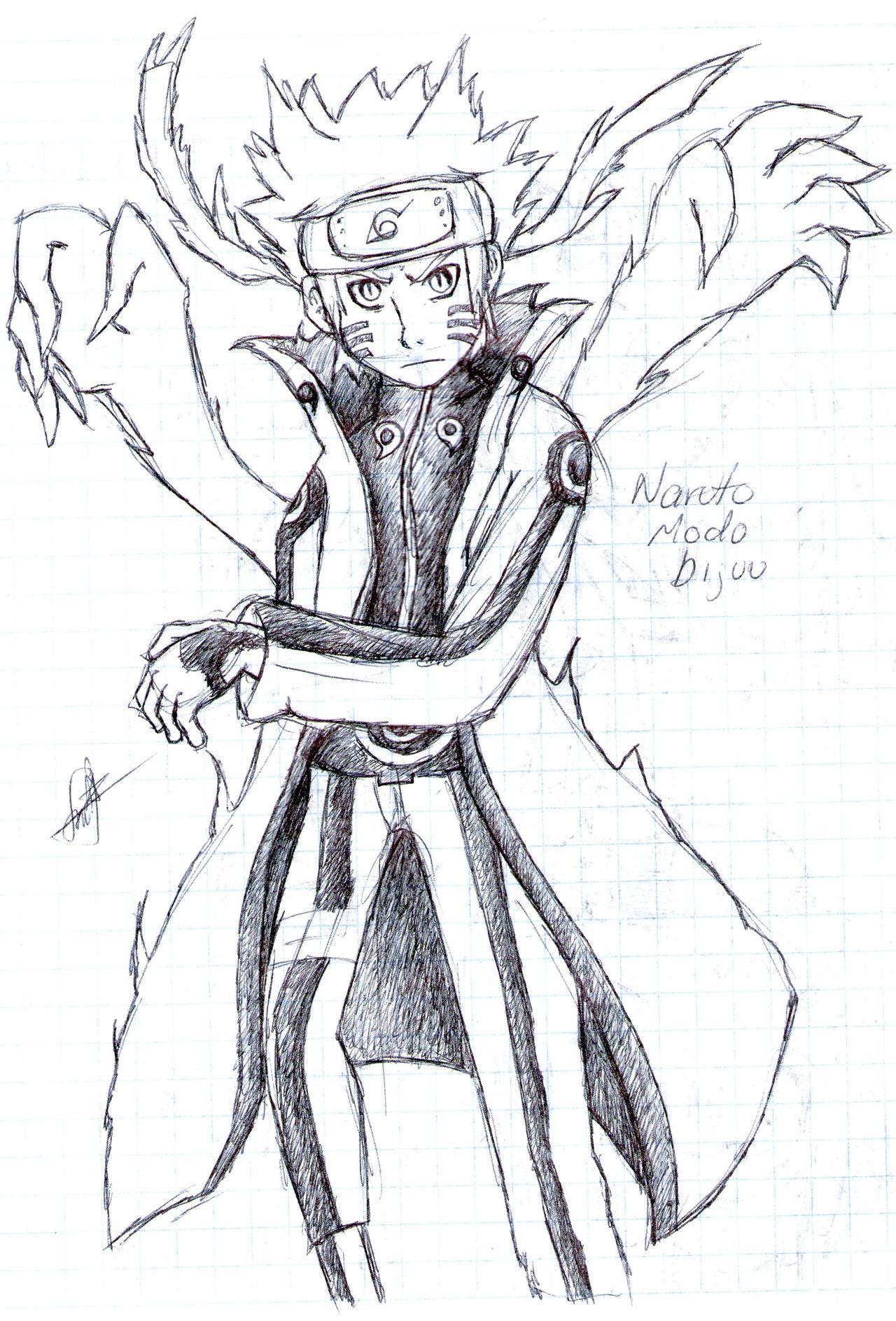 Naruto Bijuu mode by leonarockera on DeviantArt