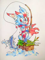 .:COMMISSION:. Redblue fishing