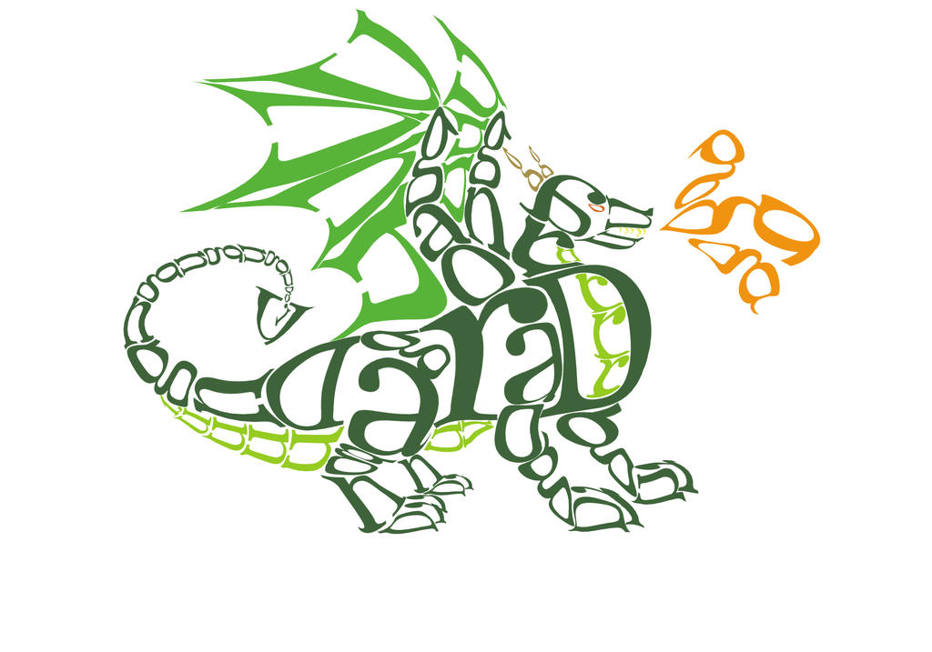 Dragon Typography by Meagharan
