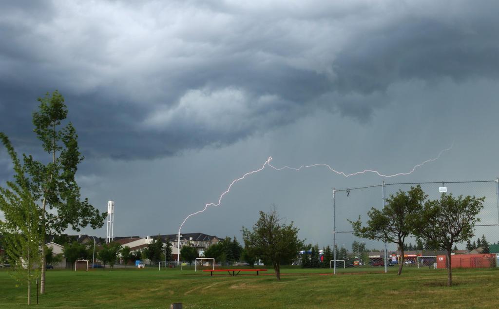 Lightning strike by Meagharan