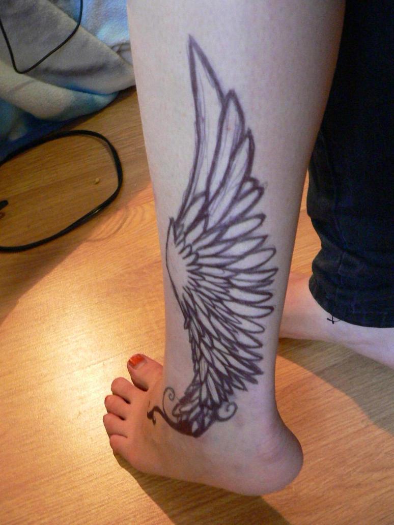 Hermes ankle pen tattoo 2 by jesterjenjen on deviantart for Tattoo with pen