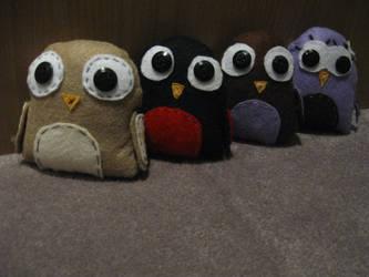 Scrappy Owl Army Plush by xxxCassandraxxx