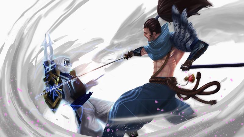 Yasuo vs Zed by kiremeister on DeviantArt