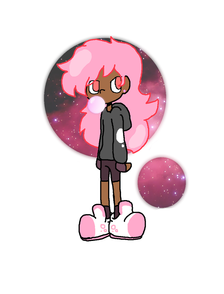 Pink Space Slime Girl by Nichromo221
