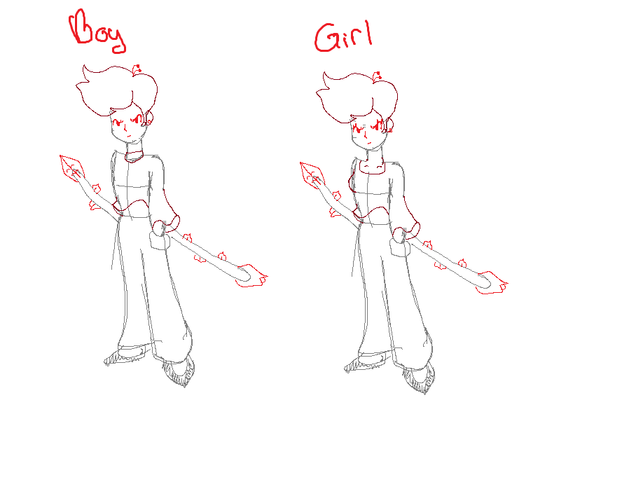 Flower (Rose) Ninja Warrior- Boy or Girl? by Nichromo221