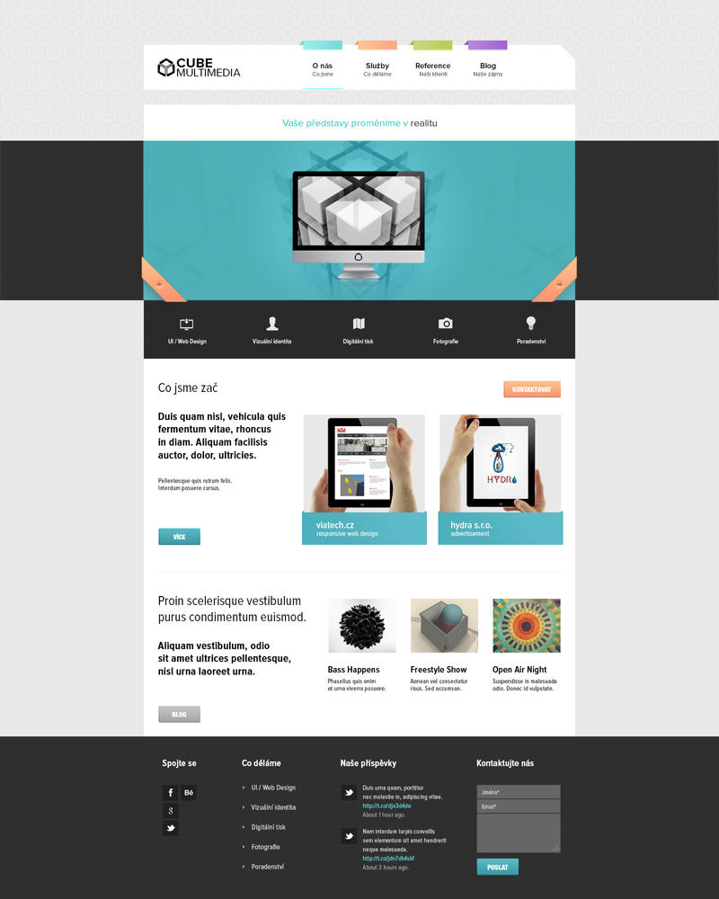 Cube Multimedia layout by K0M0X