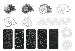Shell stylization for iPhone case