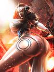 OC Commission: Fareitha Freyleif - Viking Rage