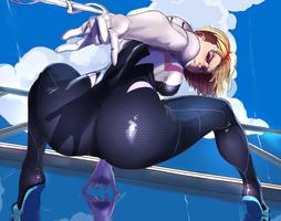 Spider-Gwen by JohnTazukura