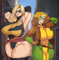 Ms. Marvel And Rogue by JohnTazukura