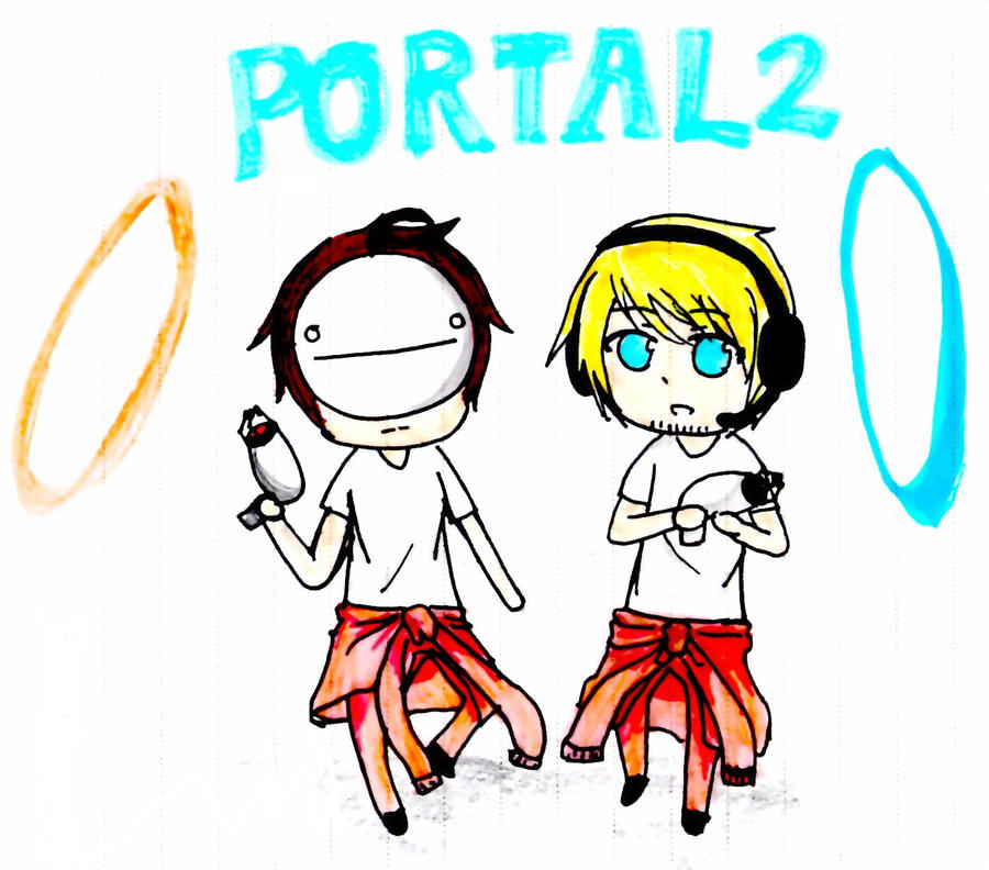 PewDiePie with Cry[Portal 2] by selrebro on DeviantArt