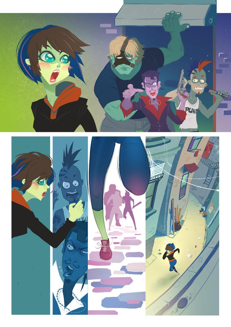 Sample Comic page by purplewurks