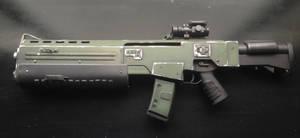 Doom Sarge rifle left side.