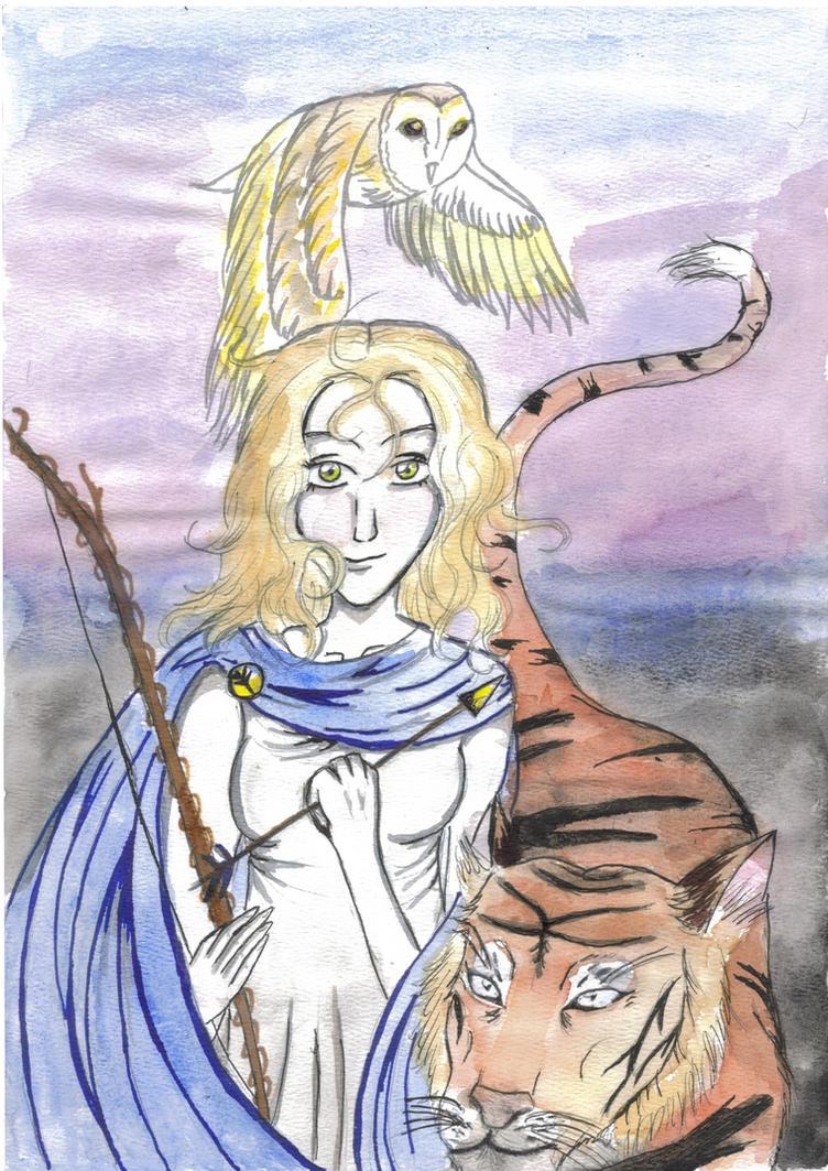 Artemis Greek Goddess Anime | www.imgkid.com - The Image ...