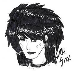 Nikki Sixx by GraveVyxen