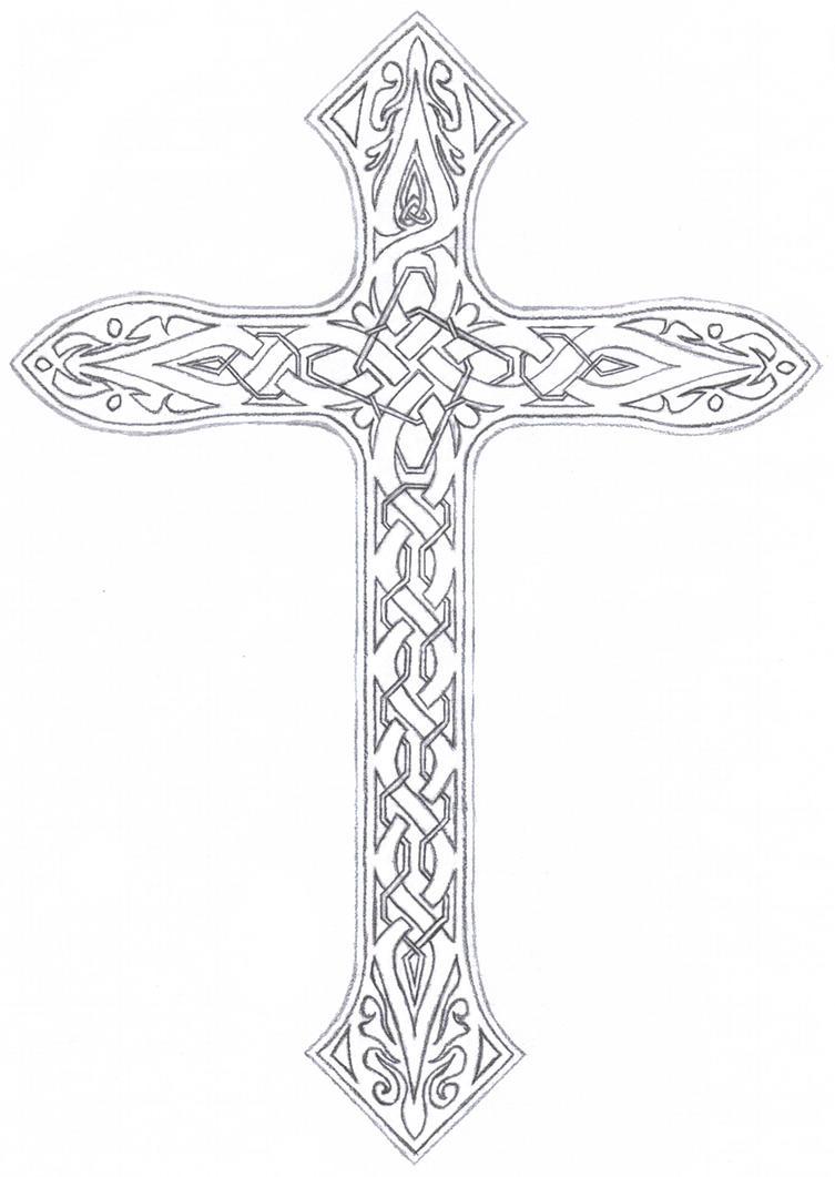 Irish celtic cross tattoo designs - Vined Celtic Cross By Taranthor On Deviantart