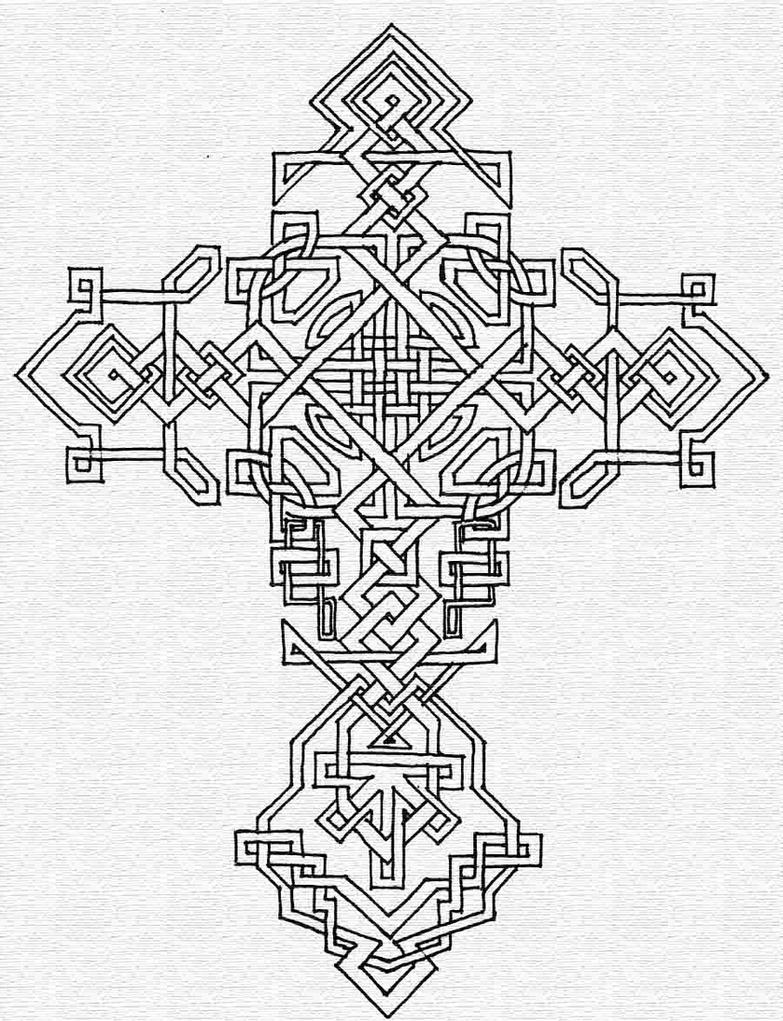 Cross ii celtic by taranthor on deviantart for Celtic cross coloring pages