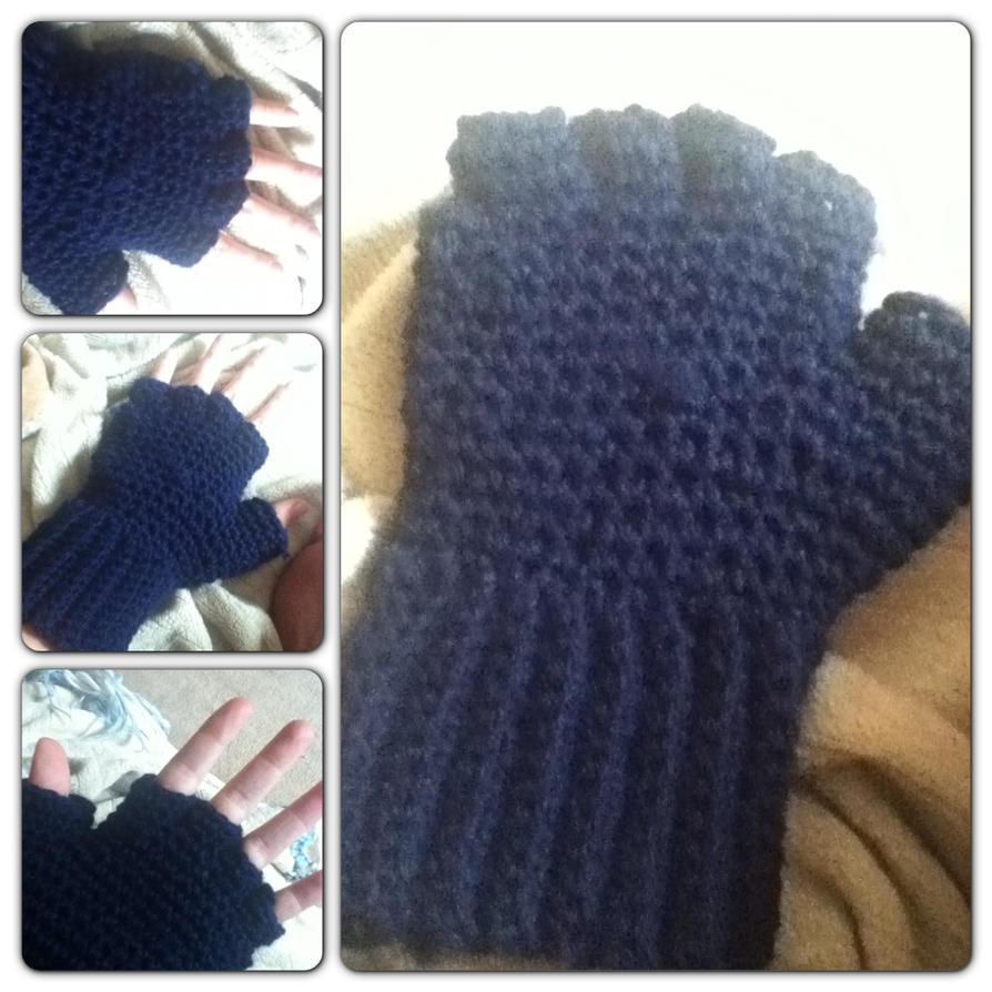 Hobo Gloves Knitting Pattern : Hobo fingerless gloves by Clix69 on deviantART