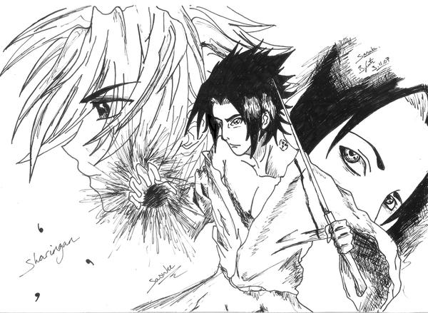 Sasuke sketches by smirfy by anime fan group