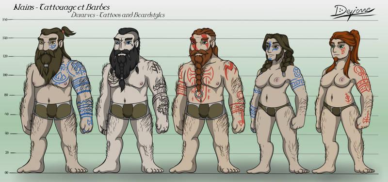 Dwarves - Tattoos and beardstyles