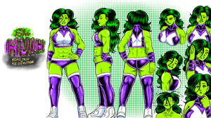 She hulk road trip to redemption :character design
