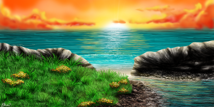 Sunset Beach Room (FREE) by BluuWynter