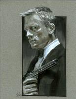 James Bond Con Sketch by gattadonna