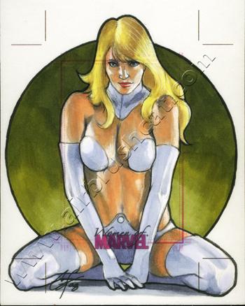 Women Of Marvel AP Emma Frost by gattadonna