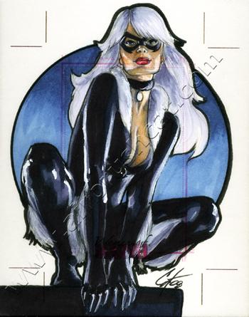 Women Of Marvel AP Black Cat by gattadonna