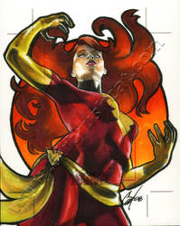 Women Of MarvelAP Dark Phoenix by gattadonna
