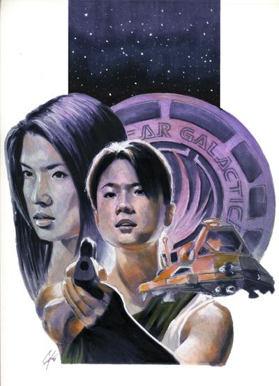 Battlestar Galactica: Athena by gattadonna