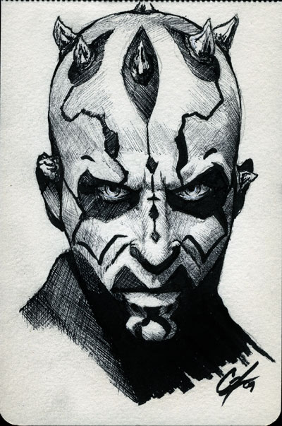 DCC Darth Maul Con Sketch By Gattadonna On DeviantArt