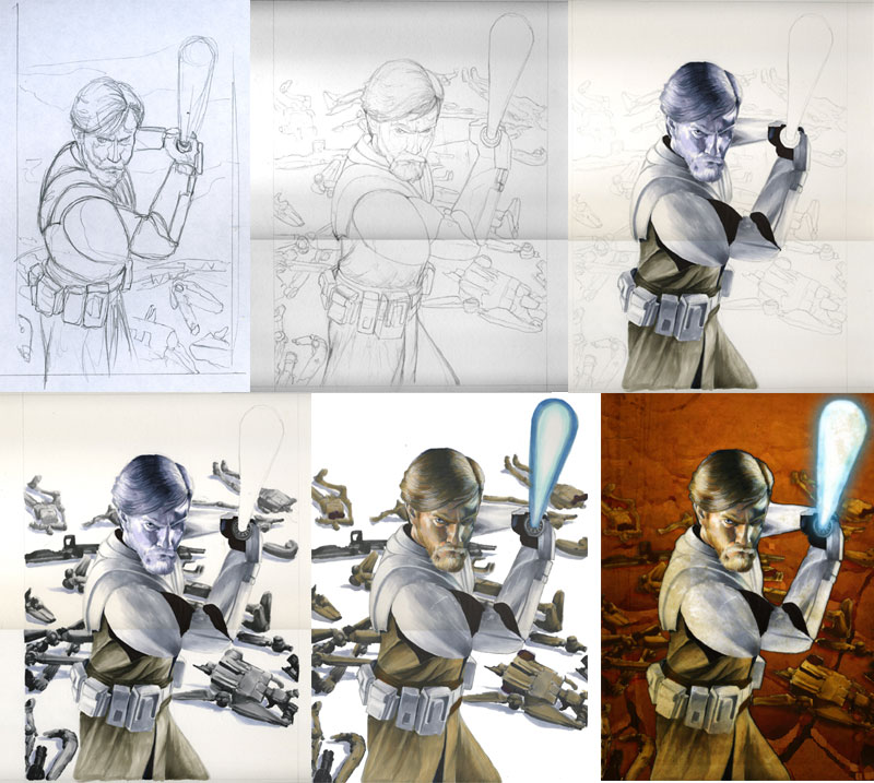 SWG4 Obi Wan Process by gattadonna