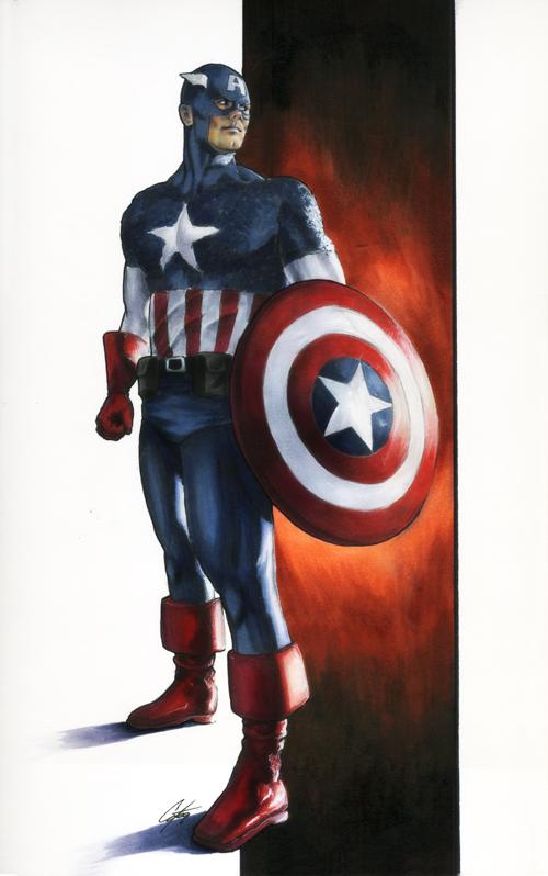 Captain America commission by gattadonna