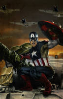 Captain America: Tank Surfer by gattadonna