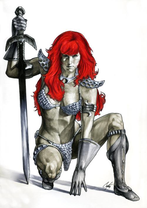 Red Sonja by gattadonna