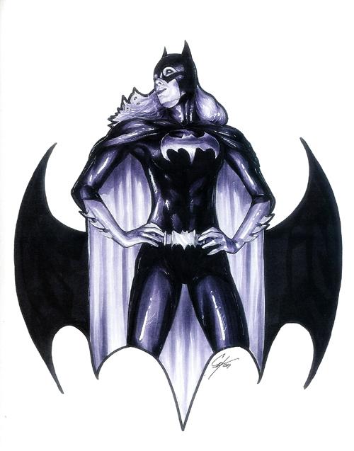 Batgirl: Dragon Con Sketch by gattadonna
