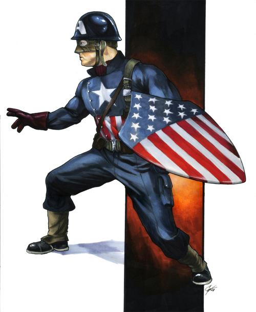 Ultimate Captain America by gattadonna