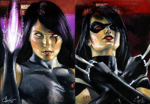 MMI Psylocke and X-23 by gattadonna